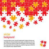 Puzzle kousky vektorová design — Stock vektor