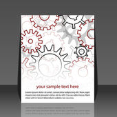 Gears background - flyer design — Stock Vector