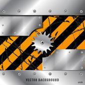 Kovové desky a gears vektor na špinavé grunge — Stock vektor