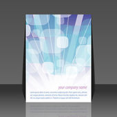 Bubbles flyer design — Stock Vector