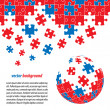Royalty-Free Stock Imagem Vetorial: Puzzle pieces vector design