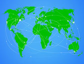 Vector illustration travel world map — Stock Vector