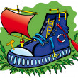 Royalty-Free Stock Imagem Vetorial: Boot is a boat