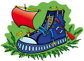 Boot is a boat — Stock Vector