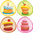 Sweet cakes — Stock Vector
