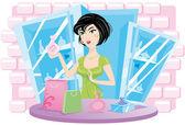 Salesman of perfumes — Vecteur