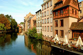The river Ill in the Petite France - Strasbourg - France — Stock Photo