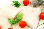 Cod fillets ready to cook — Stock Photo