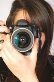 Photographer at work — Stock Photo