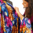 A seamstress create a new dress — Stock Photo