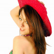 Beautiful girl with hat — Stock Photo #6053949