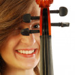 Woman with violin 024 — Stockfoto