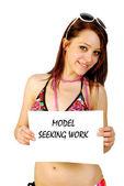 Model seeking work — Stock Photo