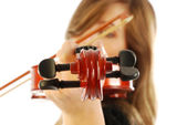 Woman with violin 003 — Stock Photo