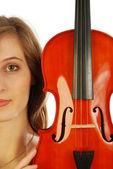 Kobieta z skrzypce 011 — Zdjęcie stockowe