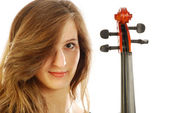 Woman with violin 021 — Stock Photo