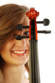 женщина с скрипки 024 — Стоковое фото