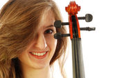 Woman with violin 026 — Stock Photo