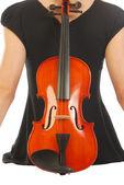 Kobieta z skrzypce 052 — Zdjęcie stockowe