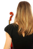 Woman with violin 054 — Stock Photo