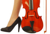 Women and musical instrument 001 — Stock Photo