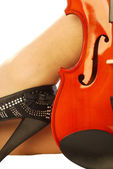 Women and musical instrument 013 — Stock Photo