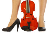 Women and musical instrument 015 — Stock Photo