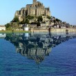 Reflection of Mont Saint Michel - Stock Photo