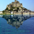 Stock Photo: Reflection of Mont Saint Michel