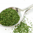 Stock Photo: Tablespoon dried parsley