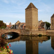 Stock Photo: District of LPetite France in Strasbourg with its bridges