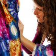 Stock Photo: Final touches to dress