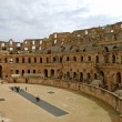 The Roman Coliseum of El Jem - Tunisia - Stock Photo