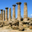 the valley of the temples in agrigento - sicily — Stock Photo