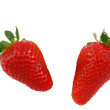 Two strawberries — Stock Photo