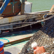 Under the sun on the fishing boat — Stockfoto