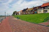 Homes on the seafront of Urk - Holland — Stock Photo