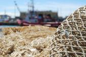 Large fishing net mesh — Stock Photo
