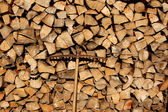 Stack of firewood for the winter — 图库照片