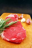 Bistecca in cucina — Foto Stock