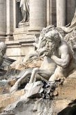 Triton - Trevi Fountain in Rome — Stock Photo
