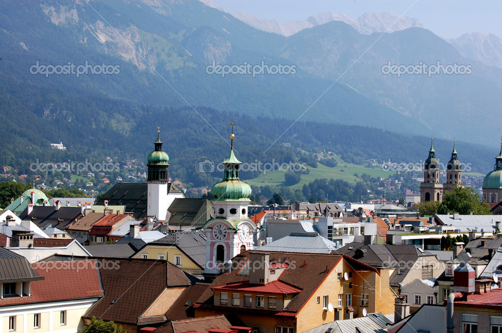 The city of Innsbruck in Austria — Stock Photo #6061289