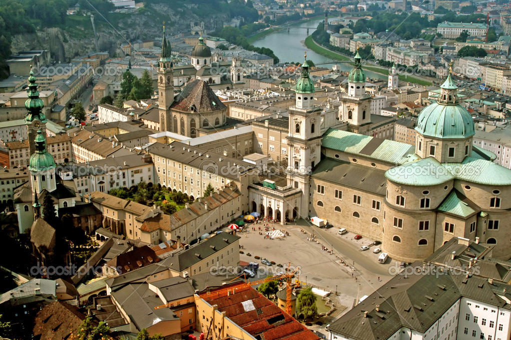 A panoramic view of Salzburg in Austria — Stock Photo #6061395