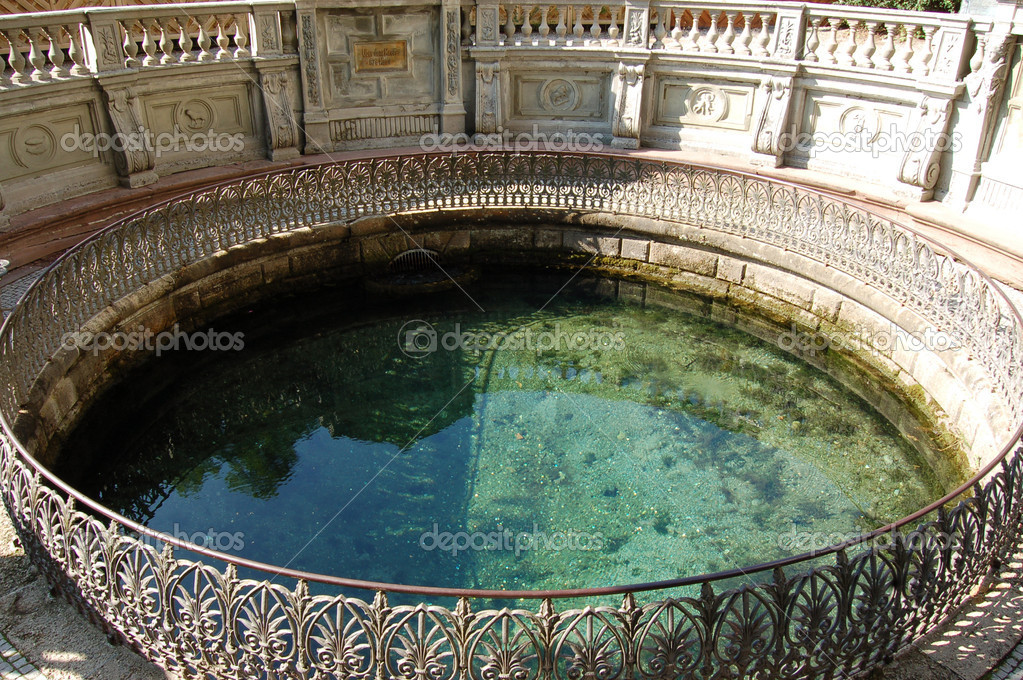 Donaueschingen Germany  city images : The source of the Danube Donaueschingen Germany — Stock Photo ...