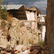 The rubble of the earthquake in Abruzzo (Italy) - Stock Photo