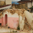 The rubble of the earthquake in Abruzzo — Stock Photo
