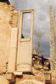 The rubble of the earthquake in Abruzzo — Stock Photo
