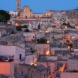 The &quot;Sassi of Matera&quot; at sunset - Stockfoto