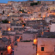 "The ""Sassi of Matera"" at sunset — Stock Photo"