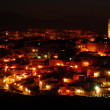 "The ""Sassi of Matera"" at night — Stock Photo"